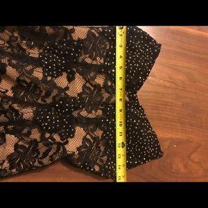 Jovani Dresses - Jovani black + nude lace dress